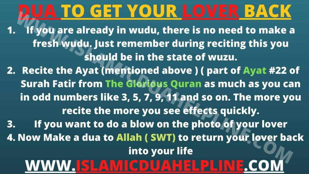 Dua To Get Your Lover back