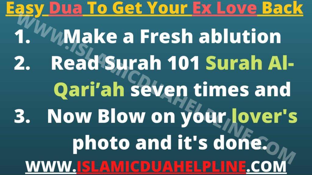 Easy Dua To Get Your Ex Love Back