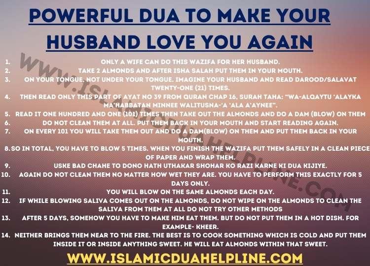 Dua To Make Your Husband Love You Again