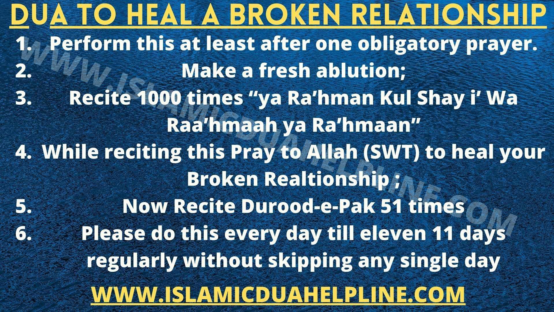 Dua to Heal a Broken Relationship